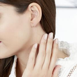 Boucles D'oreilles Puces Allie Croix Or Jaune - Boucles d'Oreilles Croix Femme | Histoire d'Or