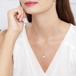 Collier Argent Goutte Perle De Culture - Colliers fantaisie Femme | Histoire d'Or