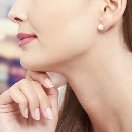 Boucles D'oreilles Puces Lucinda Or Jaune Perle De Culture - Clous d'oreilles Femme   Histoire d'Or