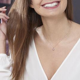 Collier Liana Or Rose Et Diamants - Colliers Coeur Femme   Histoire d'Or