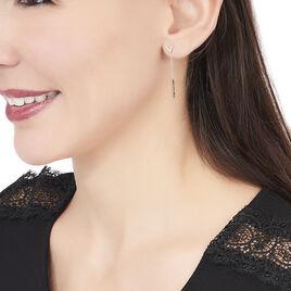 Boucles D'oreilles Pendantes Rachel Or Blanc Diamant - Boucles d'oreilles pendantes Femme   Histoire d'Or