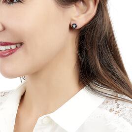 Boucles D'oreilles Puces Milana Or Blanc Saphir Et Diamant - Clous d'oreilles Femme   Histoire d'Or