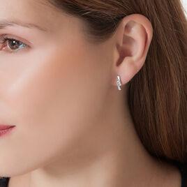 Boucles D'oreilles Puces Galya Or Blanc Diamant - Clous d'oreilles Femme   Histoire d'Or