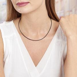 Cordon Coton Noir Fermoir Argent - Colliers fantaisie Femme | Histoire d'Or