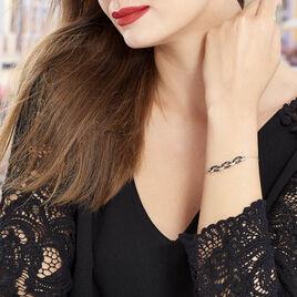 Bracelet Rhodie Argent Blanc Oxyde De Zirconium Et Céramique - Bracelets fantaisie Femme | Histoire d'Or