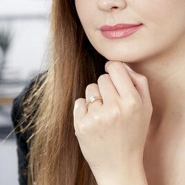 Bague Achila Or Jaune Oxyde De Zirconium - Bagues solitaires Femme | Histoire d'Or