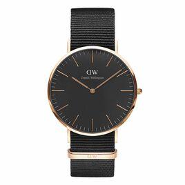 Montre Daniel Wellington Classic Cornwall Noir - Montres tendances Homme   Histoire d'Or