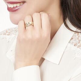 Bague Tiphanie Or Bicolore Diamant - Bagues avec pierre Femme | Histoire d'Or