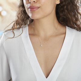Collier Or Jaune Cagiris Oxydes Et Perle De Culture - Colliers Coeur Femme   Histoire d'Or