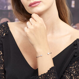 Bracelet Jonc Domitille Argent Blanc Oxyde De Zirconium - Bracelets fantaisie Femme | Histoire d'Or