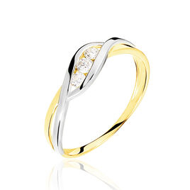 Bague Callie Or Bicolore Diamant - Bagues avec pierre Femme | Histoire d'Or