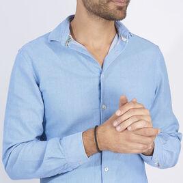 Bracelet Nestor Acier Blanc - Bracelets fantaisie Homme   Histoire d'Or