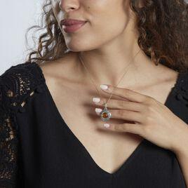 Collier Adar Argent Gris Ambre - Colliers fantaisie Femme | Histoire d'Or