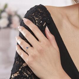 Bague Charmante Or Blanc Et Saphir - Bagues solitaires Femme | Histoire d'Or