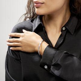Bracelet Jonc Carinne Argent Blanc Oxyde De Zirconium - Bracelets joncs Femme | Histoire d'Or