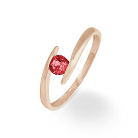 Bague Or Rose Tiphaine Rubis - Bagues avec pierre Femme   Histoire d'Or