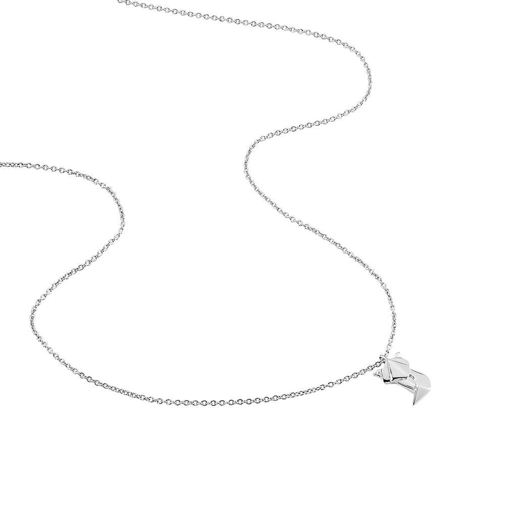 Collier Origami Argent Blanc - Colliers fantaisie Femme | Histoire d'Or