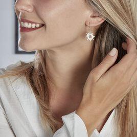 Boucles D'oreilles Pendantes Lip Henriette Argent Oxyde De Zirconium - Boucles d'oreilles fantaisie Femme | Histoire d'Or