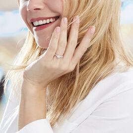 Bague Praya Or Blanc Diamant - Bagues avec pierre Femme   Histoire d'Or