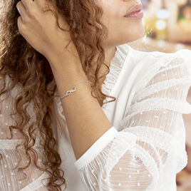 Bracelet Bastin Argent Blanc Oxyde De Zirconium - Bracelets Infini Femme | Histoire d'Or