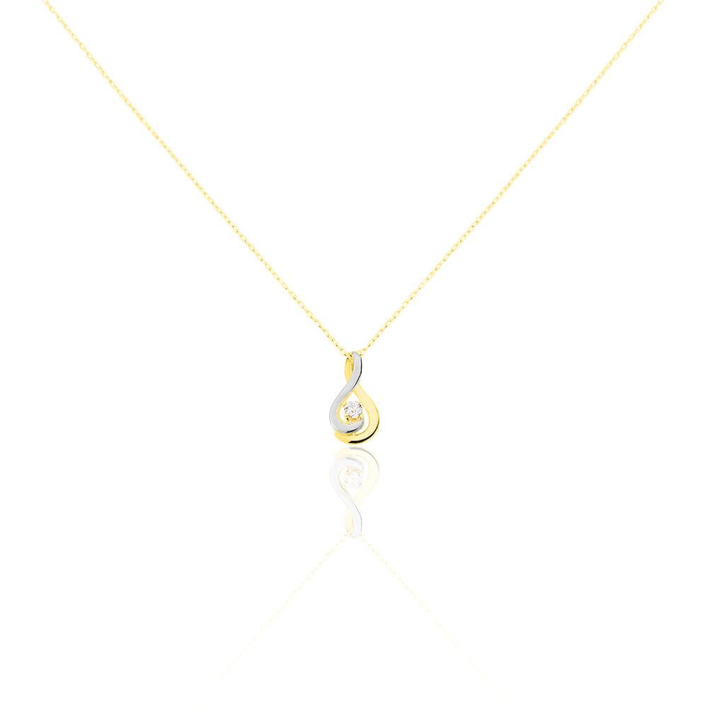 Collier Ayane Or Bicolore Oxyde De Zirconium - Bijoux Femme   Histoire d'Or