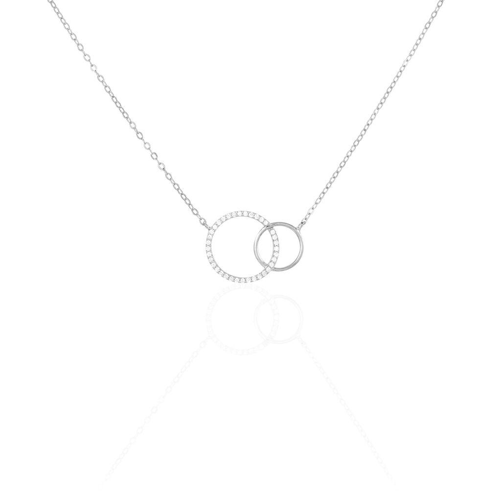 Collier Yalaz Argent Blanc Oxyde De Zirconium - Colliers fantaisie Femme   Histoire d'Or