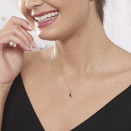Collier Sagesse Or Jaune Rubis Et Diamant - Bijoux Femme | Histoire d'Or