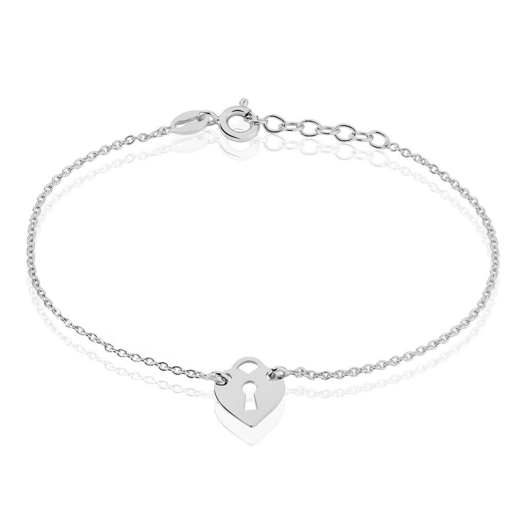 Bracelet Marybelle Argent Blanc - Bracelets fantaisie Femme   Histoire d'Or
