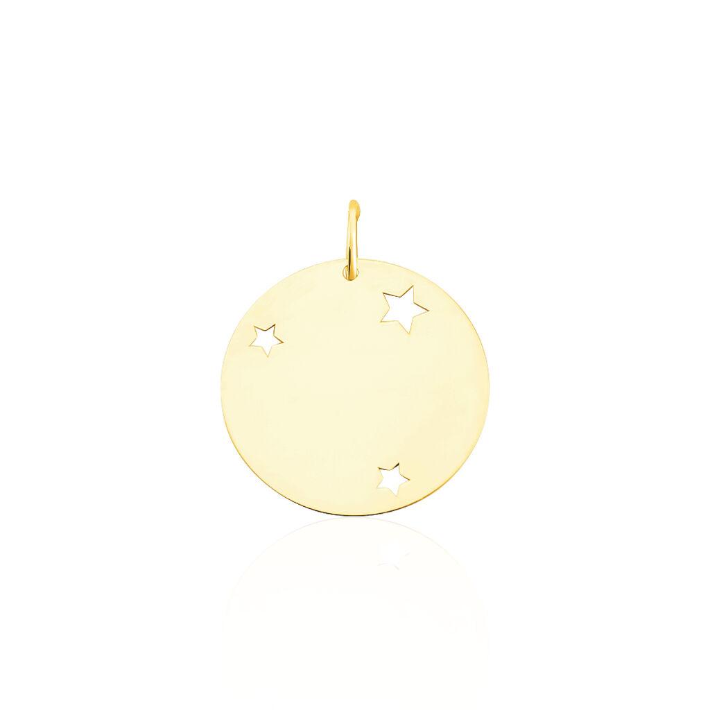 Pendentif Sirona Pastille Gravable Or Jaune - Naissance Enfant   Histoire d'Or