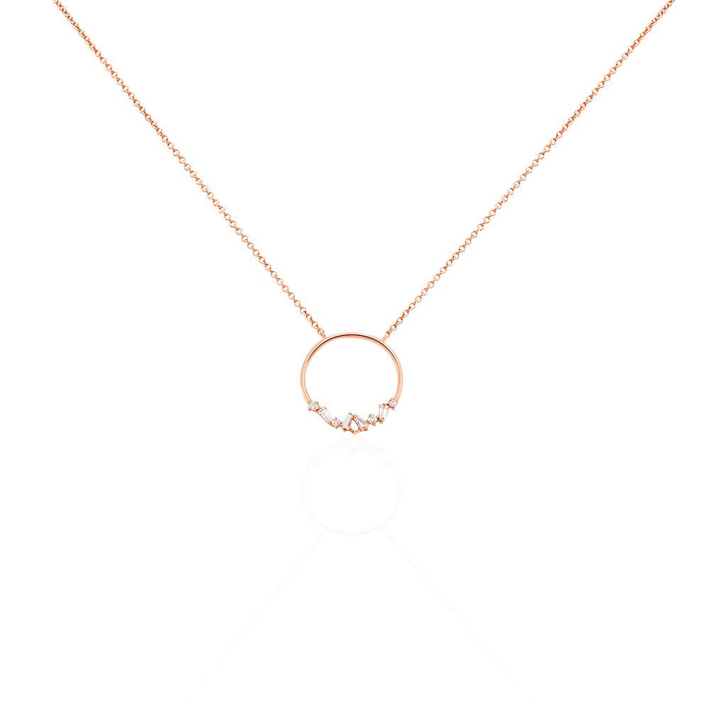 Collier Celene Argent Rose Oxyde De Zirconium - Colliers fantaisie Femme | Histoire d'Or