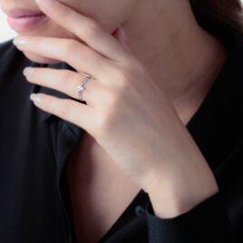 Bague Chamirame Or Blanc Oxyde De Zirconium - Bagues solitaires Femme | Histoire d'Or