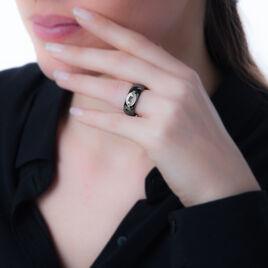 Bague Eustelleae Or Blanc Céramique Et Diamant - Bagues avec pierre Femme | Histoire d'Or