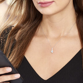 Collier Fiona Or Blanc Topaze - Colliers Coeur Femme | Histoire d'Or