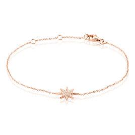 Bracelet Sarida Argent Rose Oxyde De Zirconium - Bijoux Etoile Femme   Histoire d'Or