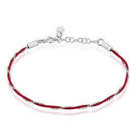 Bracelet Sahira Argent Blanc - Bracelets cordon Femme | Histoire d'Or