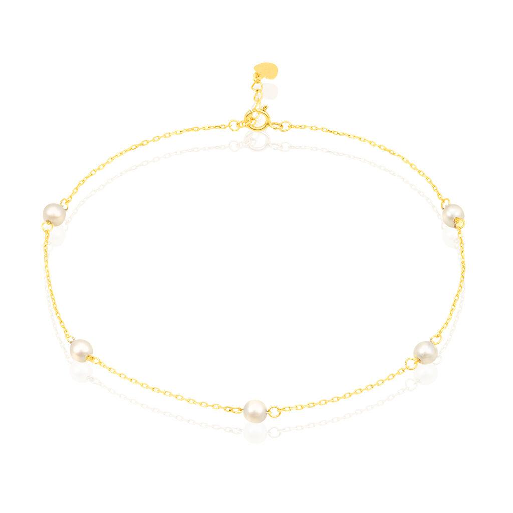 Chaîne De Cheville Akif Or Jaune Perle De Culture - Chaînes de cheville Femme | Histoire d'Or