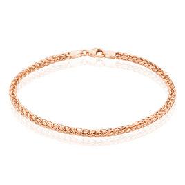 Bracelet Jolien Maille Spiga Or Rose - Bracelets chaîne Femme | Histoire d'Or