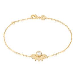 Bracelet Varia Plaque Or Jaune Oxyde De Zirconium - Bracelets fantaisie Femme   Histoire d'Or