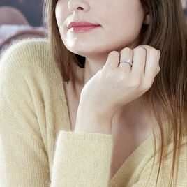 Bague Solitaire Alexandra Or Blanc Diamant - Bagues solitaires Femme | Histoire d'Or