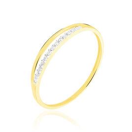 Bague Arslane Or Jaune Diamant - Bagues avec pierre Femme | Histoire d'Or