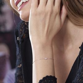 Bracelet Eirena Or Blanc Diamant - Bijoux Femme | Histoire d'Or