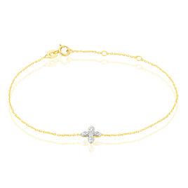 Bracelet Raskia Or Jaune Diamant - Bijoux Femme   Histoire d'Or