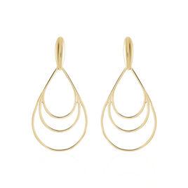 Boucles D'oreilles Pendantes Jenyfer Plaque Or Jaune - Boucles d'oreilles fantaisie Femme | Histoire d'Or