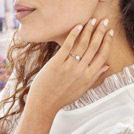 Solitaire Argent Rhodie Oxyde - Bagues solitaires Femme | Histoire d'Or