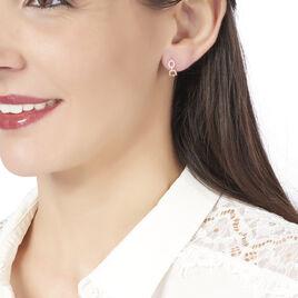 Créoles Anfal Rondes Or Rose Oxyde De Zirconium - Boucles d'oreilles créoles Femme   Histoire d'Or