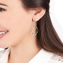 Boucles D'oreilles Pendantes Melaine Argent Blanc - Boucles d'oreilles fantaisie Femme | Histoire d'Or