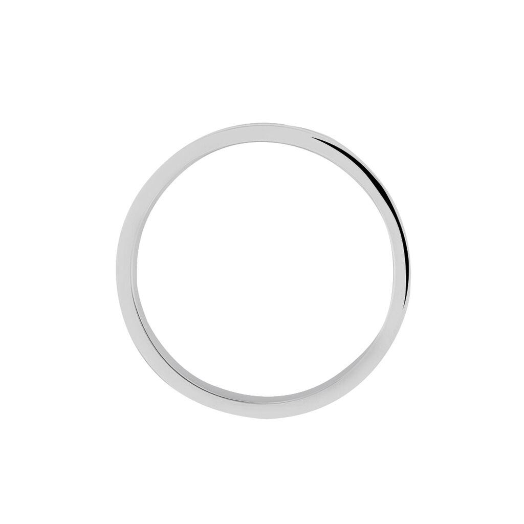 Alliance Saturne Ruban Plat Or Blanc - Alliances Homme | Histoire d'Or