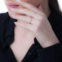 Bague Solitaire Kanel Or Blanc Oxyde De Zirconium - Bagues solitaires Femme   Histoire d'Or