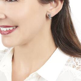 Boucles D'oreilles Puces Cypris Or Blanc Diamant - Clous d'oreilles Femme   Histoire d'Or