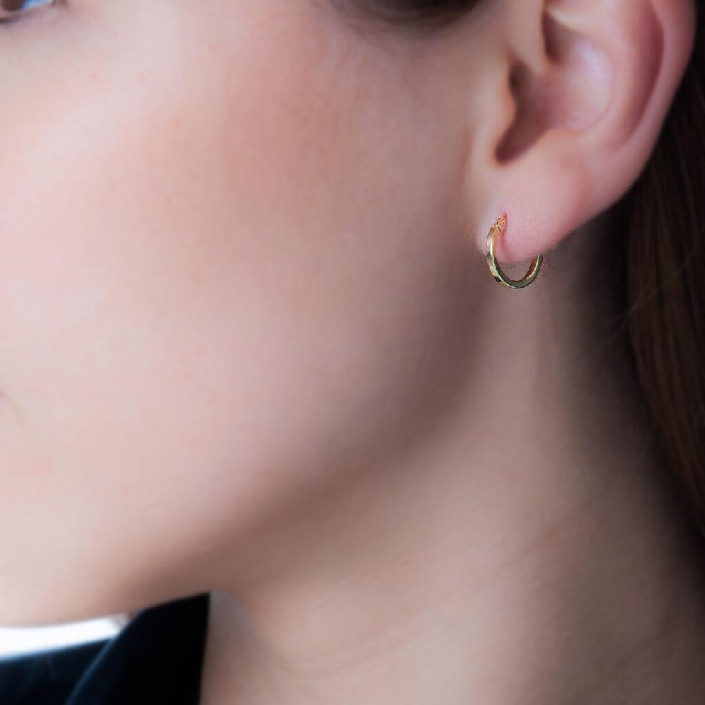 Créoles Or Jaune 1.5mm Diam 10mm - Boucles d'oreilles créoles Femme | Histoire d'Or